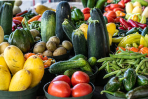 Tomatoes, Cucumber, Beans, Squash, Potatoes, Peppers, Hot Chili Peppers, and Zucchini grouped together.