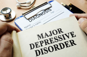 Book with title Major depressive disorder.